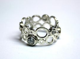 Ring of rings in silver by LARvonCL