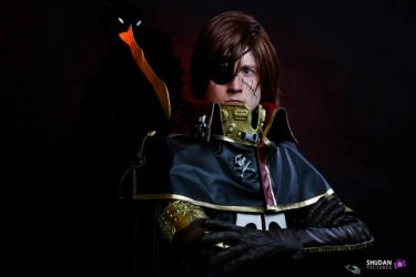 Cosplay Space Pirate Captain Harlock by CosplayQuest