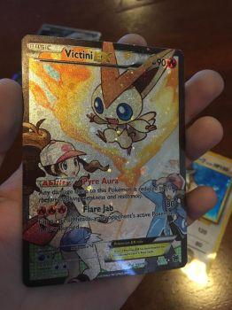 Victini EX Full Art Print by KryptixDesigns