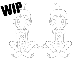 WIP - Chimchar Twins by ValChaon