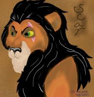 Scar, the lion king by Lily-the-pink