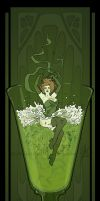 Art Nouveau Absinthe Poster by MyBeautifulMonsters