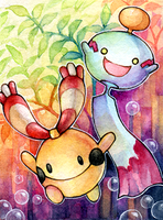 ACEO No. 89 - Chingling and Chimecho