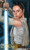 Force Awakens Rey Fan art by billycsk