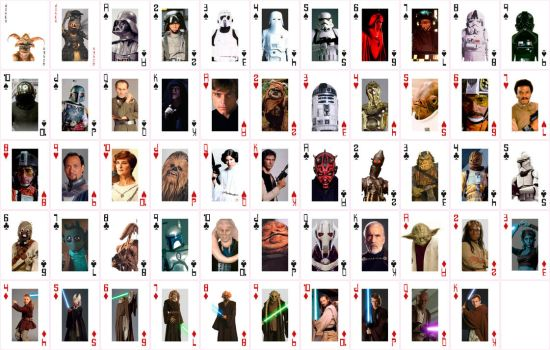 Star Wars Playing Cards by jamesrudge