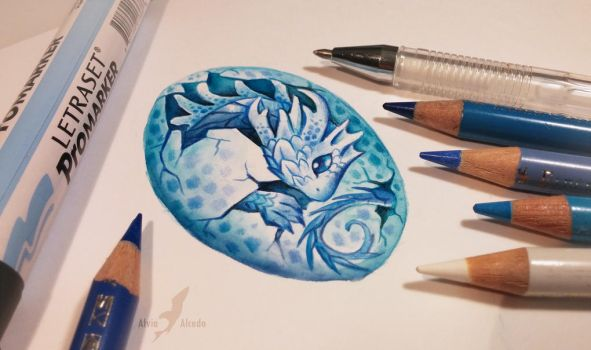 Water dragon's egg by AlviaAlcedo