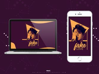 JungKook - Fake Love Wallpaper by Purplairy
