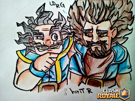 electro wizard and wizard of clash royale by-hirit by hirit-rodriguez