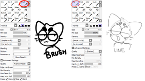 brush settings by mewrderous