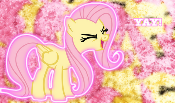 Fluttershy 'Yay' Background by Cloud-Twister