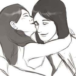 Quick Sketch + Kiss by Karyogui