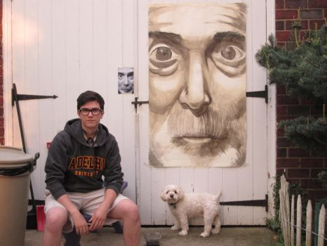 Me with the painting by FuzzyMachineGuns