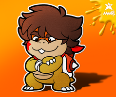 Paper Brodwig Jr. (Color Splash styled) by AmarLthePlumber