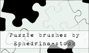 Puzzle brushes by ephedrina-stock