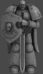 'Warhammer 40000: Deathwatch' Statue XPS ONLY!!! by lezisell