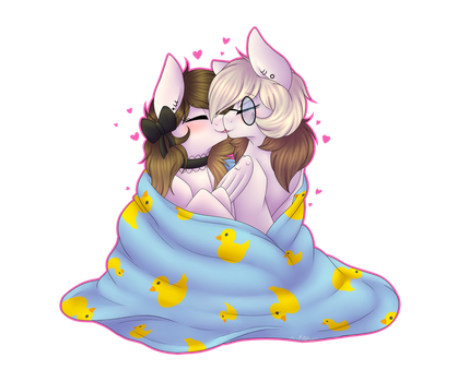 Commission: Lovely Snuggles by Corwolf