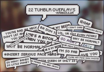 +22 Tumblr Overlays by yeahbizzle
