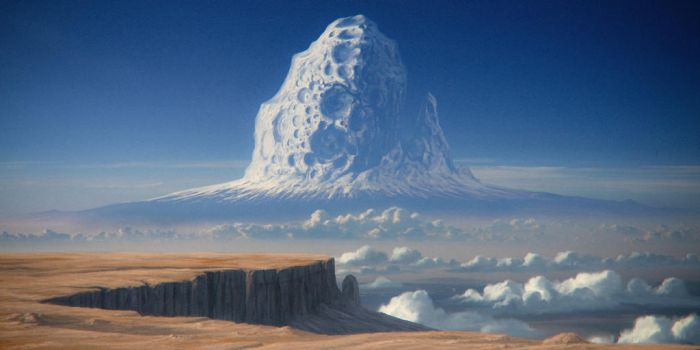Asteroid mountain by JustV23