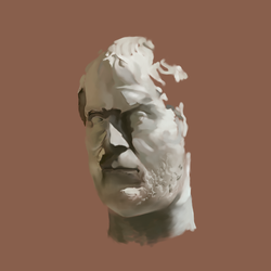 bust of a Roman emperor by Coyau