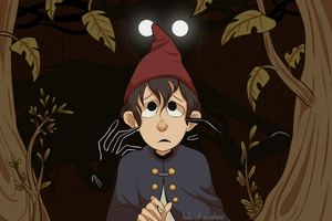 Over The Garden Wall Print by Halo-Of-Sunshine