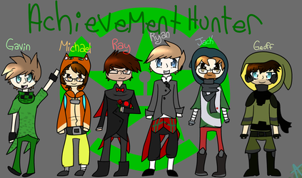 Achievement Hunter Team by KatWolfKid