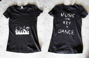 Music is the Key to Dance shirt by Charlene-Art