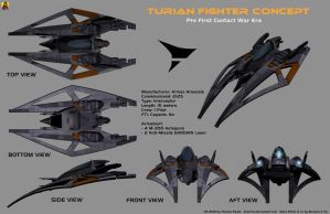 Turian Fighter Concept by Euderion