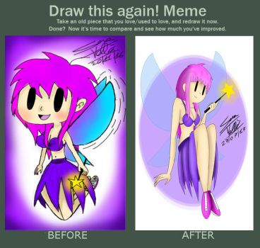 (OC) fay the fairy - before and after by Skullgirl-2000