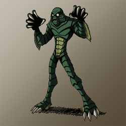 HALLOWEEN 2016 Day 7: Creature frm. Black Lagoon by KrisSmithDW