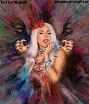 Painting Lady GaGa by ChipWhitehouse