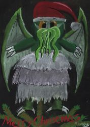Brave Little Cthulhu-Christmas by marcony