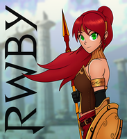 Pyrrha Nikos Fan Art (From RWBY) by ebbewaxin