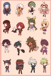Chibi Danganronpa V3 by Koki-arts