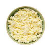 Plate with cottage cheese. by PRUSSIAART