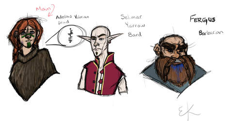 DnD Characters :D by eKnick14