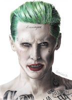 The Joker Drawing - Suicide Squad - Jared Leto by KirstenLouiseArt