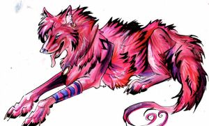 Pink Wolf by Lucky978