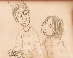 Colette and Linguini by Mitch-el
