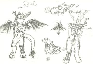 WIP :refrence for Geer: by sonicthehedggie