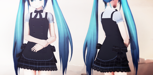 MMD Blue Dress by Seo-MMD