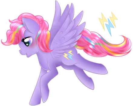 MLP Fusion (Pinkie X RD) Rainbow Sweets Pie by Ayame-Shiro