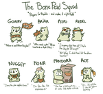 Bone Pead Squad | Reference sheet by KiwiKancre