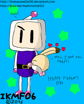 Father's Day 2016: Pommy Loves Bomberman by IkaMusumeFan06