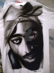 Tupac Airbrushed T-shirt by Tecboy08