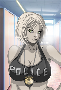 police gal by THE-DARK-MIA