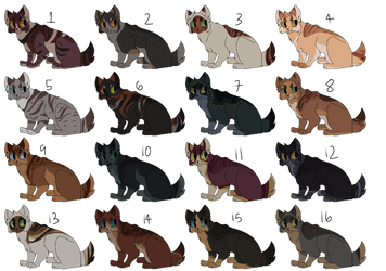30 Point Cat Adoptables (3/16 OPEN) by Marietsloth
