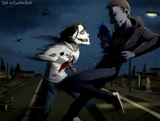 Jeff vs Eyeless Jack by Alloween