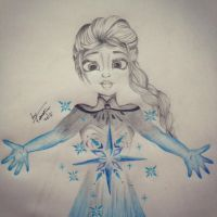 Fanart2: Elsa from Frozen by ByYasmin