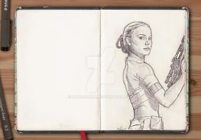 Sketchbook series - Padme by barbaramj