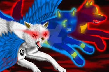 Azurehowl contest entry by BloodyFangedWolf
